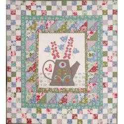 The Watering Can - Cartamodello Quilt Innaffiatoio 44x48 pollici, The BirdHouse by Natalie Bird