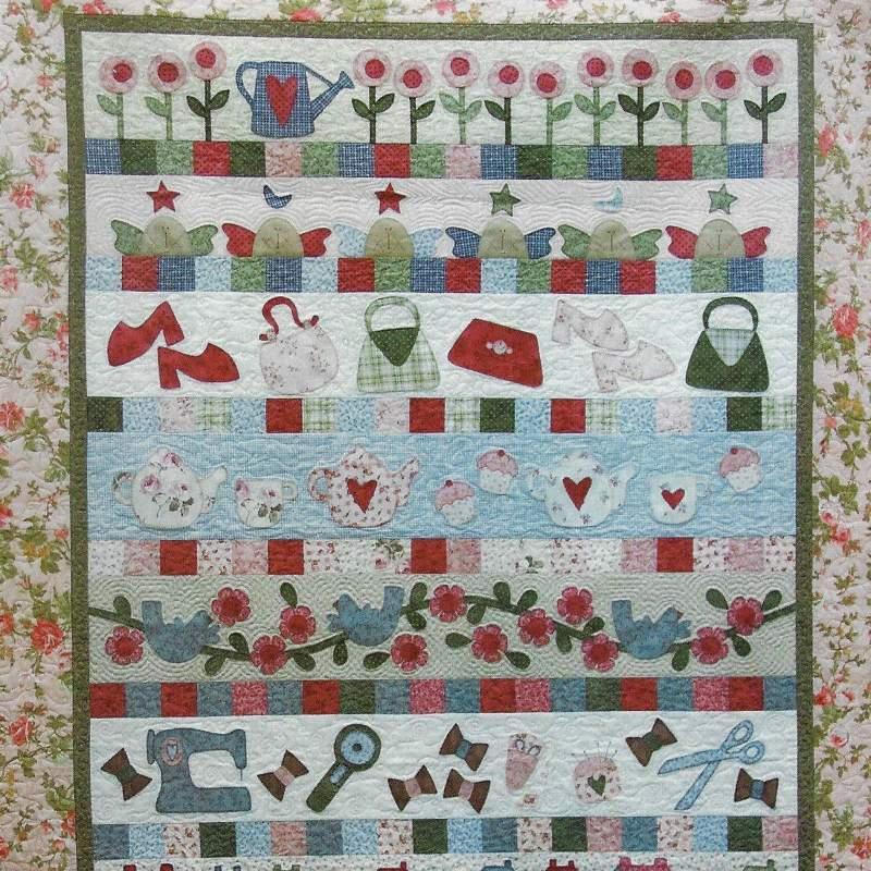 Small Pleasures BOM - Cartamodello Quilt Piccoli Piaceri 56x80 pollici, The BirdHouse by Natalie Bird