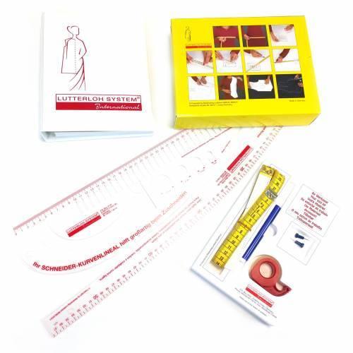 Taglio d'Oro Kit Base con 280 modelli + Set di Righelli, taglio sartoriale