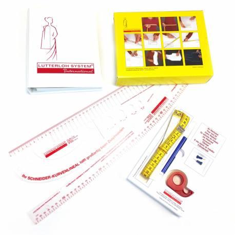 Kit Taglio d'Oro 280 modelli + Set di Righelli, sistema di taglio sartoriale