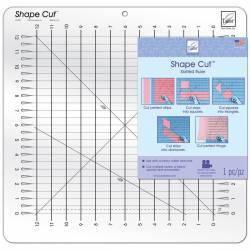 Mascherina Shape Cut Slotted Ruler, Squadretta Forata per Tagliare Forme Precise