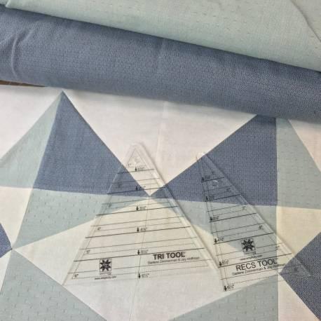 Cartamodello Centro Letto o Tovaglina 36 x 36 pollici con squadre Tri-Recs - PDF