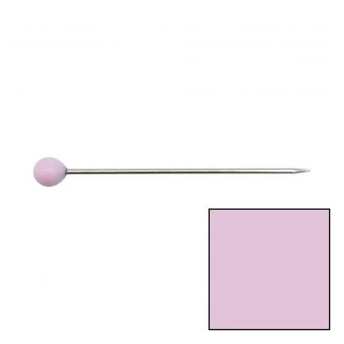 Bohin, Spilli con Testa Vetro di Murano Rosa 30x0.60mm - 80 pz