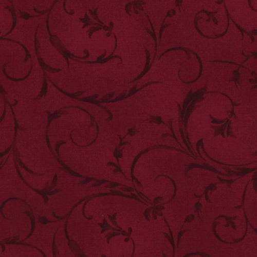 Maywood Studio H280 Beautiful Backing Burgundy, Rosso Scuro