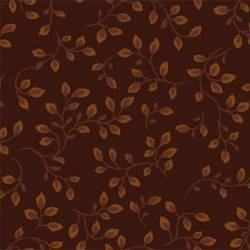 Henry Glass Folio 108 Dark Brown, Tessuto per Retro Quilt Marrone Scuro con Foglie