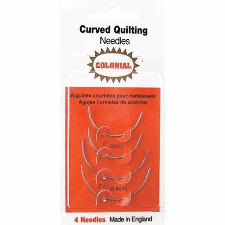 Colonial Needle - Aghi Curvi per Quilting e Cucito, 4 aghi