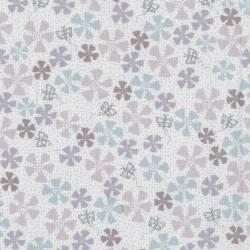 Lecien - Dancing in the Blossom by Lynette Anderson- BIANCO fiori e farfalle
