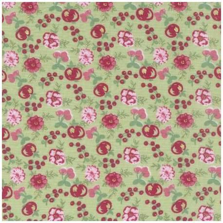 Lecien - LOYAL HEIGTHS by JERA BRANDVIG Fondo Verde menta Tema fiori e frutti