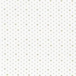 Lecien - LOYAL HEIGTHS by JERA BRANDVIG Fondo bianco Tema pois e cuori