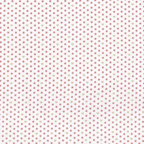 Lecien - LOYAL HEIGTHS by JERA BRANDVIG Fondo chiaro pois ROSA e cuori