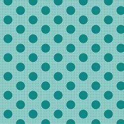 Tilda 110 Medium Dot Basics Dark Teal - Tessuto Turchese Scuro a Pois