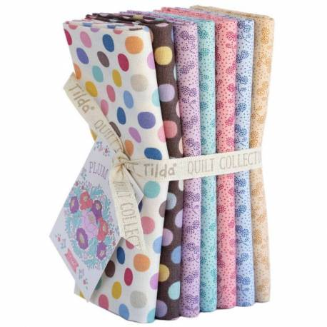 Tilda PlumGarden, Bundle 7 Fat Quarter 50 x 55 cm - CALM Extras