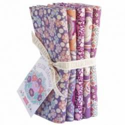 Tilda PlumGarden, Bundle 5 Fat Quarter 50 x 55 cm - PLUM, Rosa e Lavanda