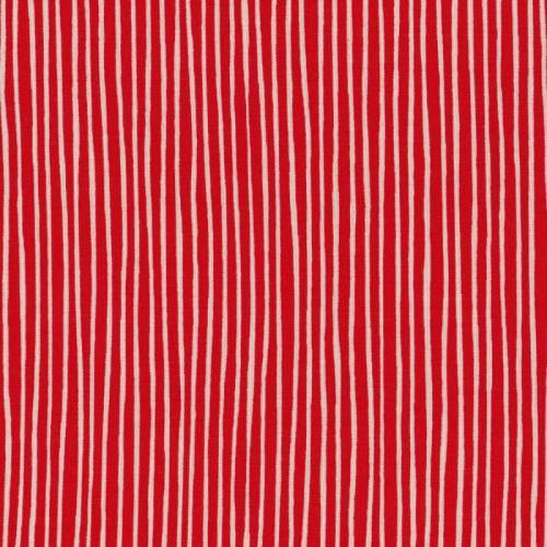 Lecien Ls Modern - ROSSO, Righe bianche