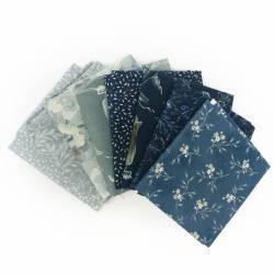 Pacchetto di Tessuto Giapponese Verde e Beige - 8 da 33 x 35 cm
