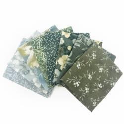 Pacchetto di Tessuto Giapponese Grigio e Rosa - 8 da 33 x 35 cm