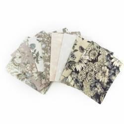 Pacchetto di Tessuto Giapponese Beige e Crema - 8 da 33 x 35 cm