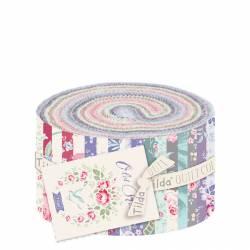 Tilda Old Rose Fabric Roll, Pacchetto da 40 tessuti 6,5 x 110 cm, collezione intera