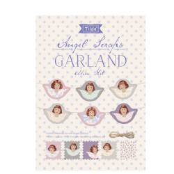 Tilda Old Rose Mini Kit Angel Scraps Garland, Ghirlanda con Angeli 150 cm