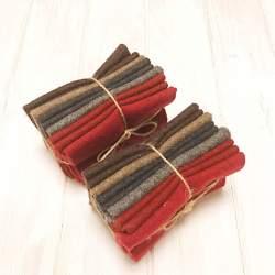 Pacchettino di Tessuto di Lana in nuance, 5 da circa 30 x 35 cm