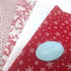 Pacchetto di 4 Tessuti di Natale, Flakes of Heart