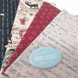 Pacchetto di 4 Tessuti di Natale, Best Wishes
