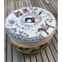 Stitching Circle Basket - Cestino da Cucito Circolare