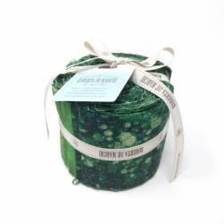 Jelly Roll con 20 Strisce di Tessuti di Natale, Verde e Oro