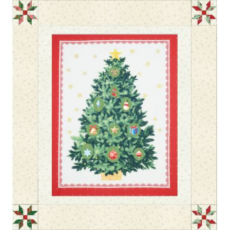 Kit Pannello Patchwork Albero di Natale - Under the Christmas Tree