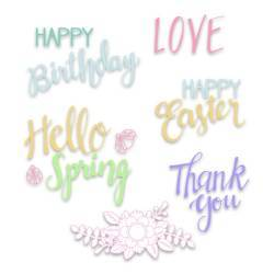 Clear Stamps Spring Phrases by Lynda Kanase