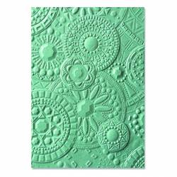 3-D Textured Impressions Embossing Folder Mosaic Gems by Courtney Chilson