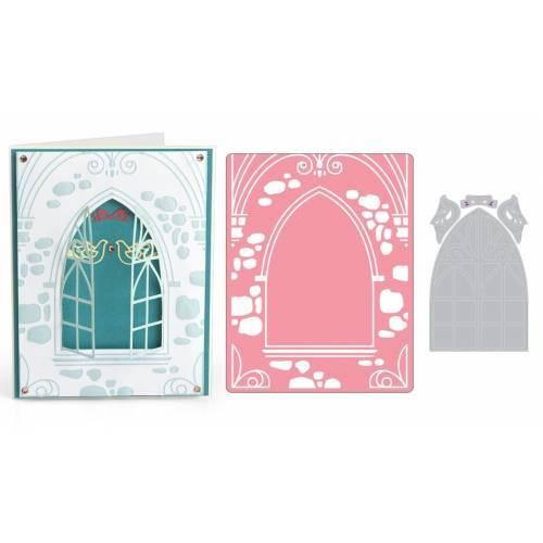 Impresslits Embossing Folder Wedding Window by Katelyn Lizardi - Finestra