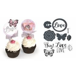 Framelits Die Set w/Stamps Cupcake Topper by David Tutera