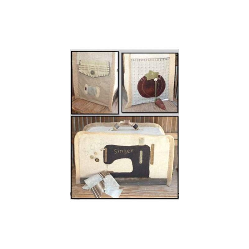 Sewing Machine Cover - Cartamodello Copri Macchina con Tasche, by Kathi Campbell