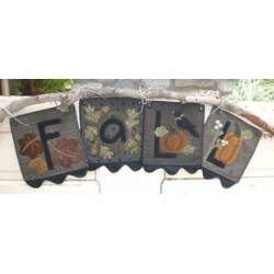 F-A-L-L - Cartamodello Fuori-Porta Autunnalle, 8 x 32 pollici, by Kathi Campbell
