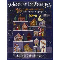 Kit di Tessuti per Welcome to the North Pole Quilt