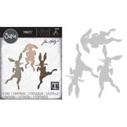 Thinlits Die - Set 3PK Bunny Hop by Tom Holtz®