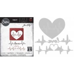 Thinlits Die - Set 3PK Heartbeat by Tom Holtz®