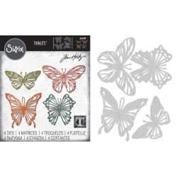 Thinlits Die - Set 4PK Scribbly Butterflies by Tom Holtz®