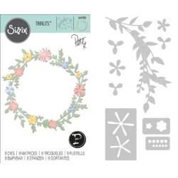 Thinlits Die - Set 9PK Spring Foliageby Pete Hughes
