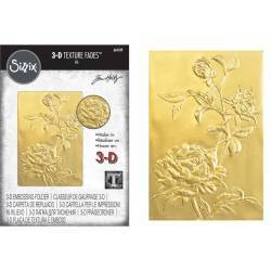 3-D Textured Impressions Embossing Folder - Roses by Tim Holtz®