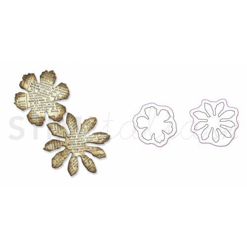 Movers & Shapers Die Magnetic Set 2PK Mini Tattered Florals Set by Tim Holtz