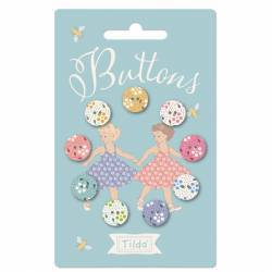 Tilda Happy Campers Buttons 12mm - 9 Bottoni