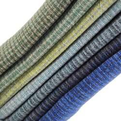 Pacchettino Giapponese, 7 Tessuti 33 x 35 cm, Blu Azzurro Giallo