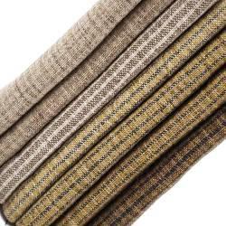 Pacchettino Giapponese, 7 Tessuti 33 x 35 cm, Tortora Senape