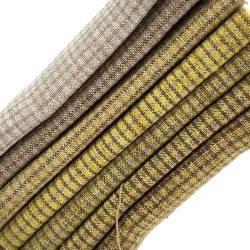 Pacchettino Giapponese, 7 Tessuti 33 x 35 cm, Giallo Marrone