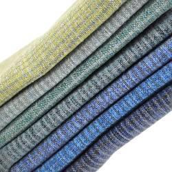Pacchettino Giapponese, 7 Tessuti 33 x 35 cm, Blu Menta Giallo