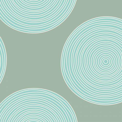 Tilda 274 Luna Teal/Sage Backing Fabric