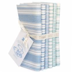 Tilda Tea Towel Basics, Bundle 6 Fat Quarter 50 x 55 cm Blu e Ottanio