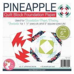 Pineapple da 6 pollici - Blocco Quilt per Foundation Paper Piecing
